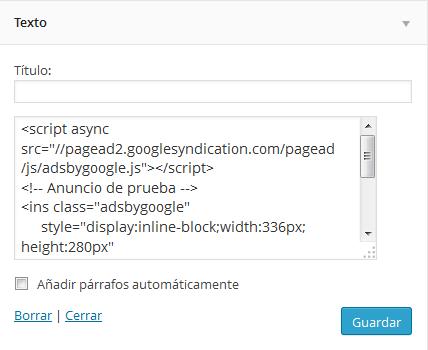 Cómo poner publicidad en WordPress con Google AdSense
