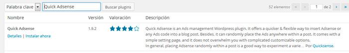 Publicidad de Google AdSense en entradas WordPress