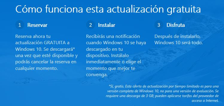 Como realizar la reserva de Windows 10