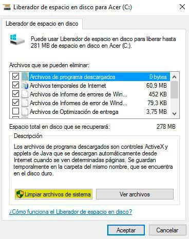 limpiar pc de archivos basuras